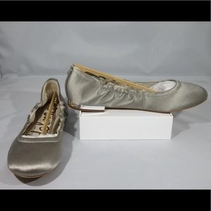 🆕🥿Sam Edelman Women's Size 8 Flats Silver Heel